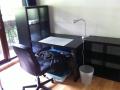 bureau et étagères